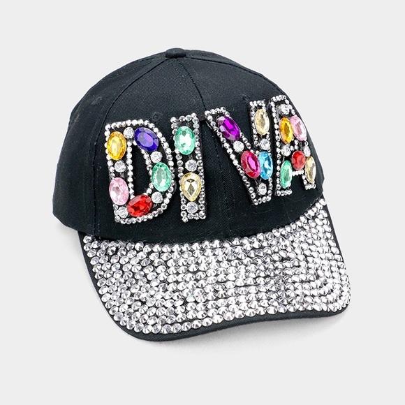 1e2b4e34b760ba Accessories | Diva Bling Stone Embellished Denim Baseball Cap | Poshmark